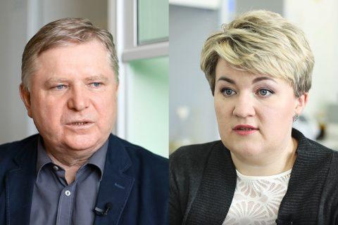 Prof. dr hab. inż. Sławomir Bakier, Dr Ewa Zapora. fot. G. Kościuk