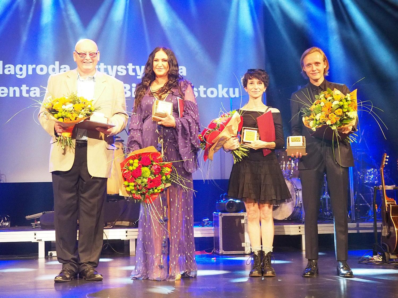 Adam Zieleniecki, Kayah, Marta Guśniowska, Bartosz Bielenia - Nagroda Artystyczna Prezydenta Białegostoku 2020, fot. Jerzy Doroszkiewicz